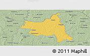 Savanna Style Panoramic Map of M'bengue