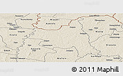 Shaded Relief Panoramic Map of M'bengue