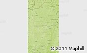 Physical Map of Korhogo