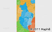 Political Shades Map of Korhogo
