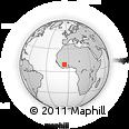 Outline Map of Korhogo