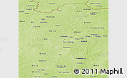 Physical Panoramic Map of Korhogo