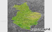 Satellite Panoramic Map of Korhogo, desaturated