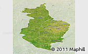 Satellite Panoramic Map of Korhogo, lighten