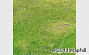 Satellite Panoramic Map of Korhogo