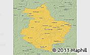 Savanna Style Panoramic Map of Korhogo