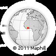 Outline Map of M'bahiakro