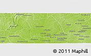 Physical Panoramic Map of M'bahiakro