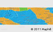 Political Panoramic Map of M'bahiakro
