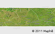 Satellite Panoramic Map of M'bahiakro