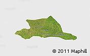 Satellite Panoramic Map of M'bahiakro, single color outside