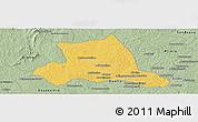 Savanna Style Panoramic Map of M'bahiakro