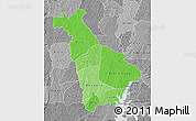 Political Shades Map of Mankono, desaturated