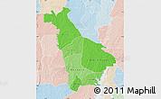 Political Shades Map of Mankono, lighten
