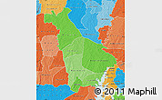 Political Shades Map of Mankono