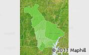 Political Shades Map of Mankono, satellite outside