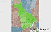 Political Shades Map of Mankono, semi-desaturated