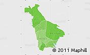 Political Shades Map of Mankono, single color outside
