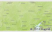 Physical Panoramic Map of Mankono
