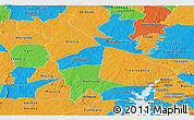 Political Panoramic Map of Mankono