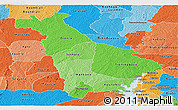 Political Shades Panoramic Map of Mankono