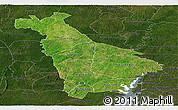 Satellite Panoramic Map of Mankono, darken