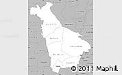Gray Simple Map of Mankono