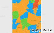 Political Simple Map of Mankono
