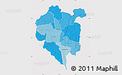 Political Shades Map of Odienne, cropped outside