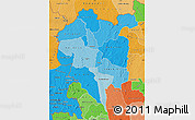 Political Shades Map of Odienne