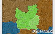 Political Shades Map of Tengrela, darken