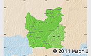 Political Shades Map of Tengrela, lighten