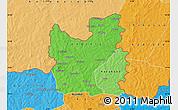 Political Shades Map of Tengrela