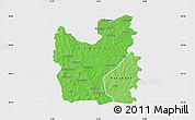 Political Shades Map of Tengrela, single color outside