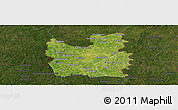 Satellite Panoramic Map of Tengrela, darken