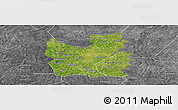 Satellite Panoramic Map of Tengrela, desaturated