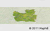 Satellite Panoramic Map of Tengrela, lighten