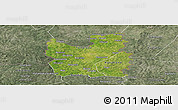 Satellite Panoramic Map of Tengrela, semi-desaturated