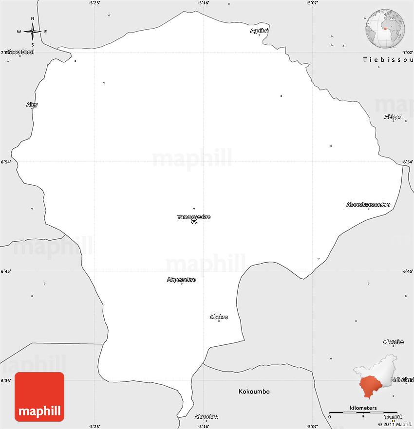 Silver Style Simple Map of Yamoussoukro on bujumbura map, algiers map, sana'a map, juba map, baga, nigeria map, greenwich mean time zone map, yaounde map, mbabane map, mande people map, vatican city map, zimbabwe map, africa map, kabul map, ankara map, bloemfontein map, timbuktu map, life map, reykjavik map, man map, bratislava map,