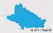 Political 3D Map of Bjelovar-Bilogora, cropped outside