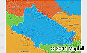 Political 3D Map of Bjelovar-Bilogora