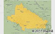 Savanna Style 3D Map of Bjelovar-Bilogora
