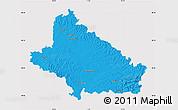 Political Map of Bjelovar-Bilogora, cropped outside