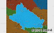 Political Map of Bjelovar-Bilogora, darken