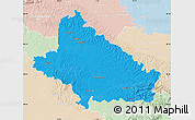 Political Map of Bjelovar-Bilogora, lighten