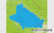 Political Map of Bjelovar-Bilogora, physical outside