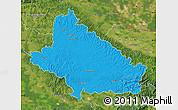 Political Map of Bjelovar-Bilogora, satellite outside