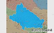 Political Map of Bjelovar-Bilogora, semi-desaturated