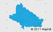 Political Map of Bjelovar-Bilogora, single color outside