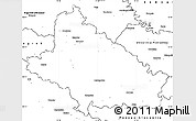 Blank Simple Map of Bjelovar-Bilogora